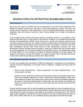 Annex 6: Selection Criteria of River Basins and Selected River Basins for pilot projects