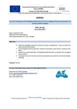 Annex 4.1a: Training of the Biological Elements for the Ecological Status Assessment of Surface Water, Tbilisi, 10-12 June