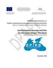 Annex 2.7.1: Communication Strategy and Plan for the Upper Dnieper Pilot Basin