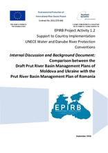 Annex 5: Comparison between the Draft Prut River Basin Management Plans of Moldova and Ukraine with the Prut RBMP of Romania