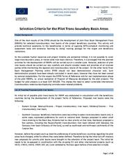 Annex 6: Selection Criteria for the Pilot Trans-boundary Basin Areas