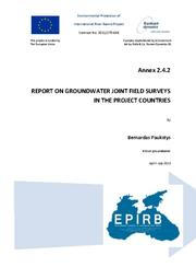 Annex 2.4.2: Report on Groundwater Joint Field Surveys in the project Countries