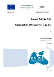 Annex 2.4.3: Classification of Groundwater Bodies