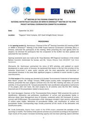 2nd National Coordination Committee Meeting for Armenia 16 September, 2013